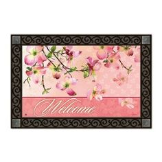 Dogwood Matmate Doormat by Magnet Works, Ltd.. $20.00. The design of this product is very exquisite and beautiful.. Pink Dogwood MatMate.. Exceptional customer service and unparalleled product expertise.. Non-slip recycled rubber backing with a non woven polyester face.. Die-sublimated mat. Weatherproof for indoor/outdoor use.. MAIL16383 Features: -Material: Recycled rubber.-With a non woven polyester face.-Weatherproof.-For indoor/outdoor use.