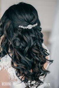 свадебные прически распущенные локоны