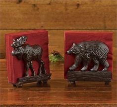 Cast Bear Napkin Holder by Park Designs. For a Park Designs retailer near you visit our website at www.parkdesigns.net #parkdesigns #bear #moose #lodge