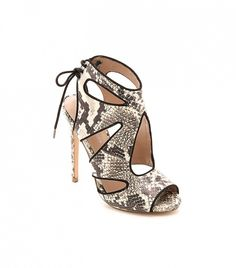 With these snake-print shoes, you're sure to standout! // Hattie Snake Cutout Sandals by KG Kurt Geiger