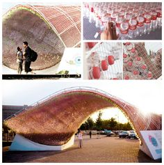 Upcycled Coca Cola Plastic Bottle Pavilion #CocaCola, #Pavilion, #PlasticBottles, #Upcycled