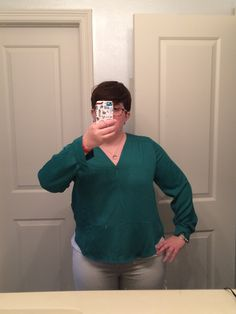 stitch fix shirt 2 - the sleeves are great but i wish the length overall was an inch or two longer - i have to wear a cami under it even with a high-waisted jean.