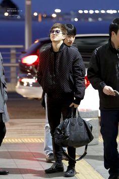 160123: EXO Suho (Kim Joonmyun); Incheon Airport to Manila Airport #exo #fashion #style #kfashion #kstyle #korean #kpop