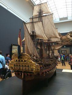 Ship model of the 'Prins Willem' in Het Rijksmuseum in Amsterdam