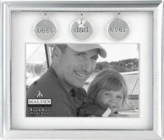 Transform the look of your home or office with Best Dad Matted Charms Photo Frame . With its simple yet modern design, it can be combined with other frames for a unique look. For three generations Malden International Designs Family Picture Frames, Metal Picture Frames, Picture Frame Sets, Picture On Wood, Dad Pictures, Wedding Anniversary Photos, Clip Frame, Dad Birthday, Birthday Ideas