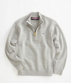 Boys Sweaters and Pullovers: 1/4-Zip Sweater for Boys S-XL