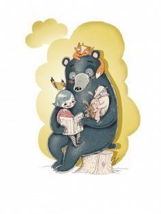 LesebjørnLiten plakat 30X40 cm*Plakaten selges uten ramme, men passer i standard IKEA-rammer*Trykket på kvalitetspapir Scandia 2000*fargene kan variere fra skjerm til skjerm Minnie Mouse, Disney Characters, Fictional Characters, Illustration, Art, Art Background, Illustrations, Kunst, Gcse Art