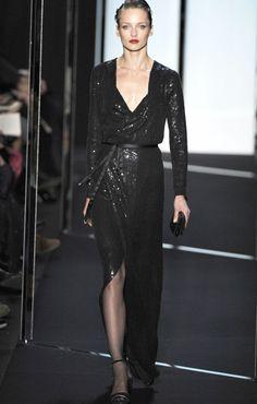 Diane von Furstenberg Fall 2011 Black Evening Dress Karmen Pedaru