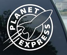 """PLANET EXPRESS - Futurama - Vinyl Decal Sticker #A1458 (4.2"""" (2 Pack) any color)"""