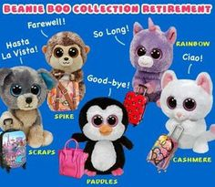 Beanie Boos Collection Retired   Official retirements