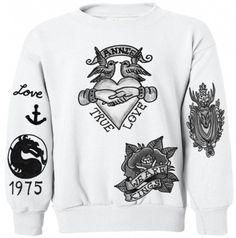 Matty Healy tattoo sweatshirt I need this in my life