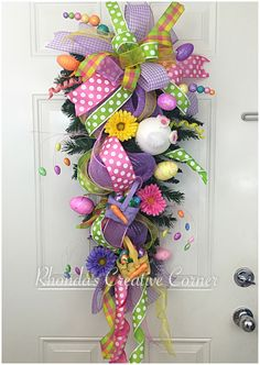 A personal favorite from my Etsy shop https://www.etsy.com/listing/271263549/on-sale-10-off-easter-swag-colorful