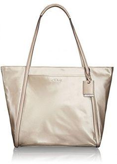 Tumi Q-Tote Handbag Gold One Size #Tumi