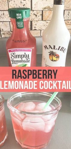 most refreshing Raspberry Lemonade Cocktail that is only 2 ingredients! Can sub Light Simply Raspberry Lemonade.The most refreshing Raspberry Lemonade Cocktail that is only 2 ingredients! Can sub Light Simply Raspberry Lemonade. Lemonade Cocktail, Raspberry Lemonade, Cocktail Drinks, Raspberry Cocktail, Simple Cocktail Recipes, Vodka Lemonade Drinks, Vodka Tequila, Vodka Martini, Vodka Cocktails