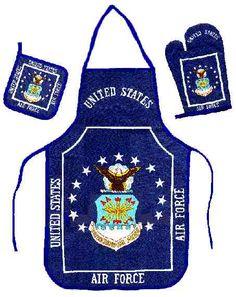 Air Force Grilling Apron Set