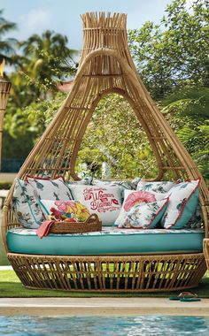 It's five o'clock somewhere is the official motto of our Margaritaville-inspired Mirage Daybed. | Margaritaville by Frontgate