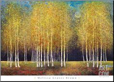 Golden Grove Mounted Print by Melissa Graves-Brown at Art.com