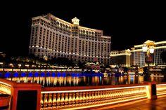 Bellagio Hotel at night Las Vegas Nevada America photograph picture poster print #lasvegas #photography #art