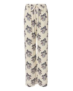 ALEXIS Welsley Floral Print Silk Pants. #alexis #cloth #