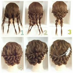 This pigtail hairstyle is beautiful. I will do that for sure – Haare Stil – Wedding HairStyles Medium Hair Styles, Curly Hair Styles, Natural Hair Styles, Updos For Curly Hair, Braided Updo For Short Hair, 4c Hair, Braided Hairstyles, Wedding Hairstyles, Cool Hairstyles