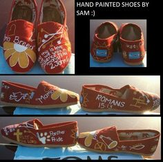 TOMS shoes I painted