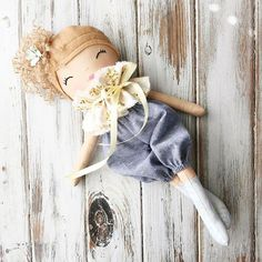 Now Adopted..Thank you! Dear sweet, beautiful Pippa is the last remaining #summerinthemeadow dolly left in the shop this morning. And she was my favorite! #spuncandydolls #clothdoll #handmadedoll #curlyheaded #sosweet
