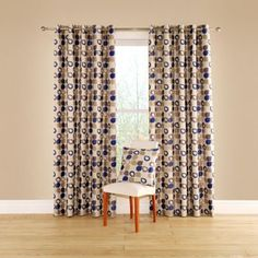 Montgomery Cobalt 'Dacota' lined curtains with eyelet heading Made To Measure Curtains, Blinds, Curtains, Home, Interior, Lined Curtains, Curtains With Blinds, Home Decor, Room