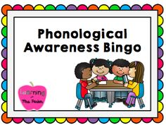 Help students develop phonological awareness through this small group activity.  Students will listen to the sounds in words while searching for the picture in this Bingo game.