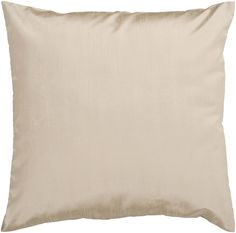 "Add simple elegance to any room with this solid pillow. The color champagne accents this decorative pillow. This pillow contains a poly fill and a zipper closure. Add this 18"" x 18"" pillow to your collection today. 100% Polyester 18"" x 18"" Decorative Pillow $25.00"