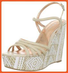BCBGeneration Women's Hosanna Wedge Sandal,Buff/Chalk,10 M US - Sandals for women (*Amazon Partner-Link)