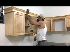 Awesome Woodworking Techniques - How To Installation Full Kitchen Cabinets Wall Mounted - YouTube