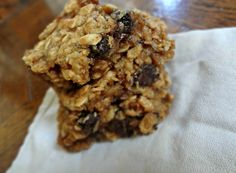 The Cooking Actress: Gooey Peanut Butter Oatmeal Chocolate Chunk Bars (gluten free, dairy free, low fat)