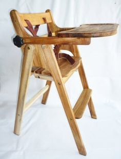 Wooden High Chair - Hardwood High Chair & 17 best Wooden High Chairs images on Pinterest   Wood high chairs ...