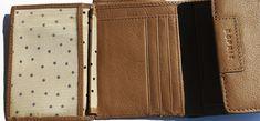 kožené dámske pňaženky | ESPRIT (Germany) - značková peňaženka - dámska - kožená (trifold) | NajŠperk.sk - šperky, oceľové šperky, klenoty, oceľové, náramky, retiazky, prívesky Card Holder, Wallet, Pocket Wallet, Handmade Purses, Diy Wallet, Purses