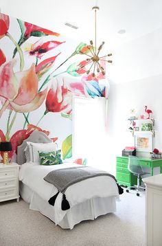 Lily's Bold and Bright Bedroom:  The One Room Challenge Reveal! | Less Than Perfect Life of Bliss | home, diy, travel, parties, family, faith