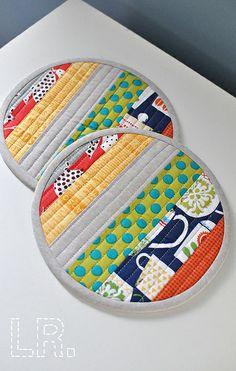 Zakka Style Patchwork Potholders by LRstitched, via Flickr