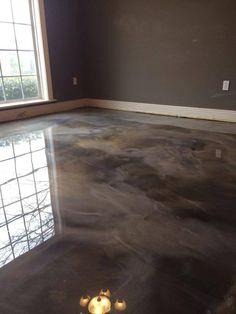 epoxy flooring Epoxy gebeizter Beton - B - flooring Basement Flooring, Plywood Floors, Stained Concrete Flooring, Laminate Flooring, Epoxy Concrete Floor, Concrete Bathroom, Flooring Ideas, Polished Concrete, Basement Renovations