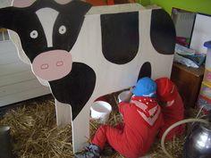 2ème version pour traire une vache dans la maison