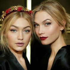 #beauty #gigihadid #karliekloss #dolcegabbana #beauty #makeup