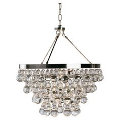 This is a great way to add a little sparkle to your space.  The Bling Chandelier is available in Polished Nickel or Patina Bronze finishes. Chandelier w/Convert