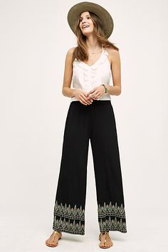 Embroidered Miramar Wide-Legs - #anthrofave