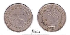 1941 LIBERIA 2 Cents - Elephant, Republic of Liberia #Coins http://etsy.me/1Bzzpwg @Etsy