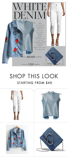 """""""White Denime"""" by v-aldina ❤ liked on Polyvore featuring Alice + Olivia, Marques'Almeida and 3.1 Phillip Lim"""