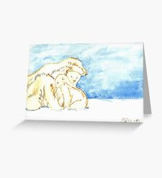 Polar Bear Family Greeting Card