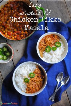Easy Instant Pot Chicken Tikka Masala - Easy Real Food
