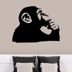 Banksy Monkey Thinking Wall Decals