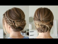 Tucked Fishtail Braid Updo | Missy Sue - YouTube