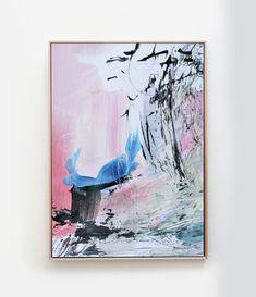 Large Abstract art Abstract Painting wall art acrylic Green Wall Art, Pink Wall Art, Sound Art, Large Painting, Abstract Wall Art, Fine Art Paper, New Art, Printable Art, Canvas Art