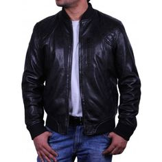 df6fc0d65572 Brand New Men s Black Lambskin Cowhide Real Leather Motorcycle Biker Jacket