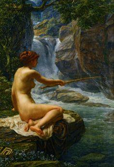 Sir Edward Poynter, The Nymph of the Stream, n.d.